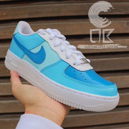 Custom Nike Air Force 1 Low (Shades of Blue)