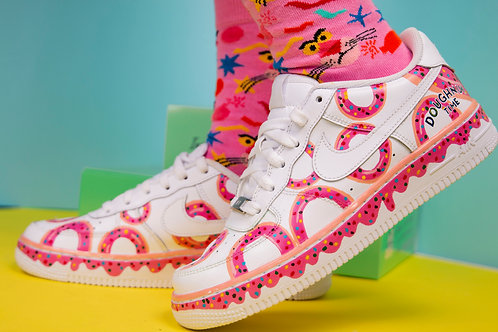 Custom Nike Air Force 1 Low (Doughnut Time)