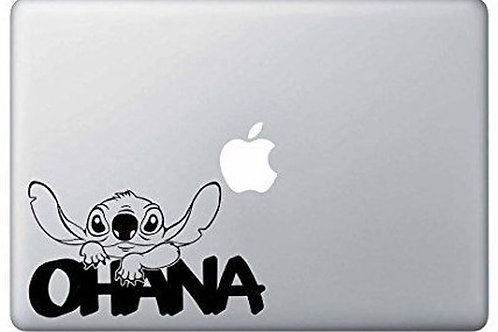 Custom Stitch Ohana Sticker, Macbook Sticker, Personalized Stencil