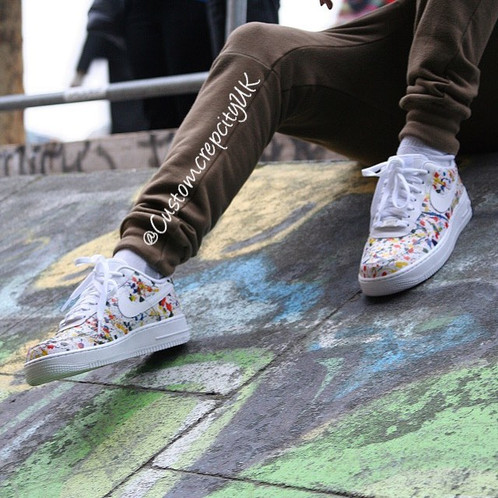 buy popular 3f478 bd5fa Custom Nike Air Force 1 (Paint Splattered)