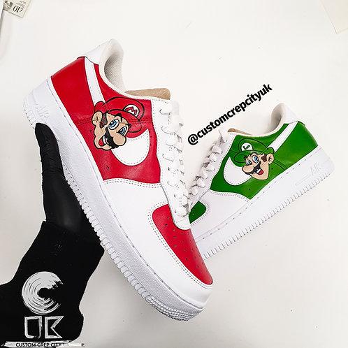 Custom Nike Air Force 1 Low (Super Mario Bros)