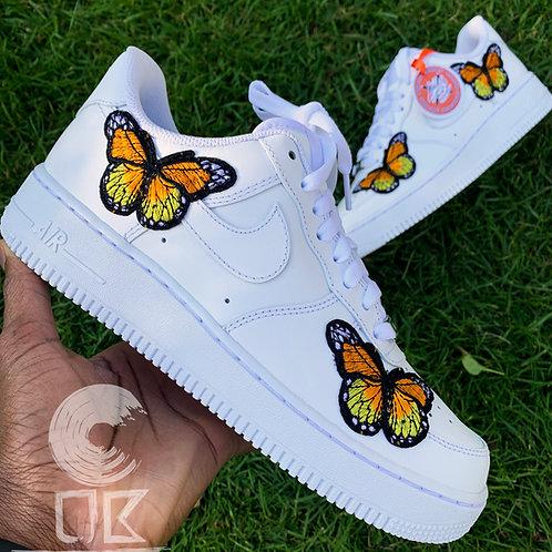 Custom Nike Air Force 1 (Orange Butterfly)