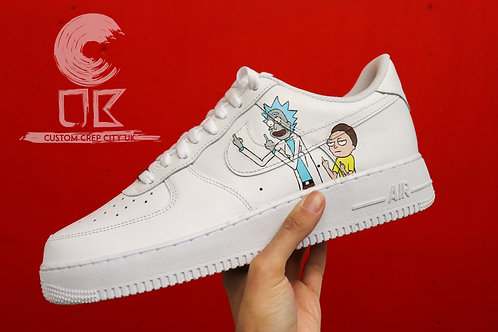 Custom Nike Air Force 1 Low (Rick and Morty)