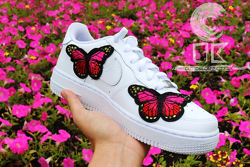 Custom Nike Air Force 1 Low (Pink Butterfly)