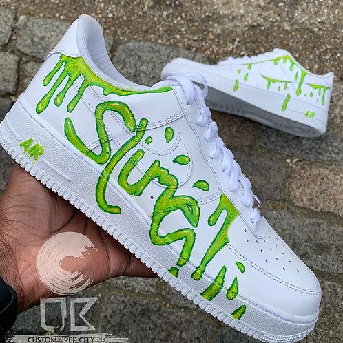 Custom Nike Air Force 1 Low (Slime 2.0)