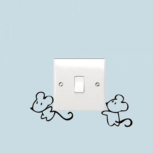 Mice Lifting Custom Decal, Wall Switch Sticker, Wall Plug Decal