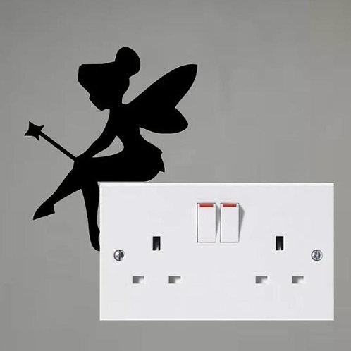 Tinkerbell Custom Decal, Wall Switch Sticker, Wall Plug Decal, Tinkerbell Decal