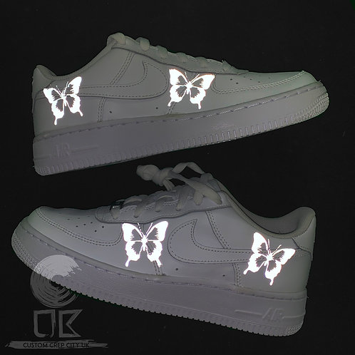 Custom Nike Air Force 1 Low (Reflective Butterflies)