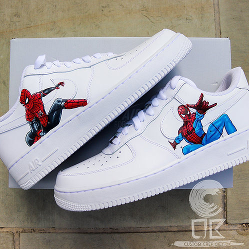 Custom Nike Air Force 1 Low (Spiderman)