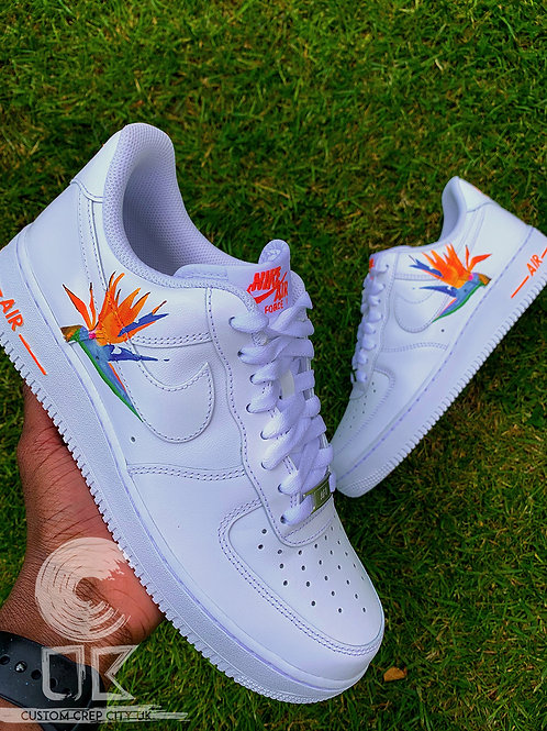 Custom Nike Air Force 1 Low (Bird of Paradise)