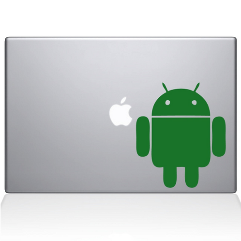 Custom Android Decal Sticker, Macbook Android Sticker, Android Logo Vinyl