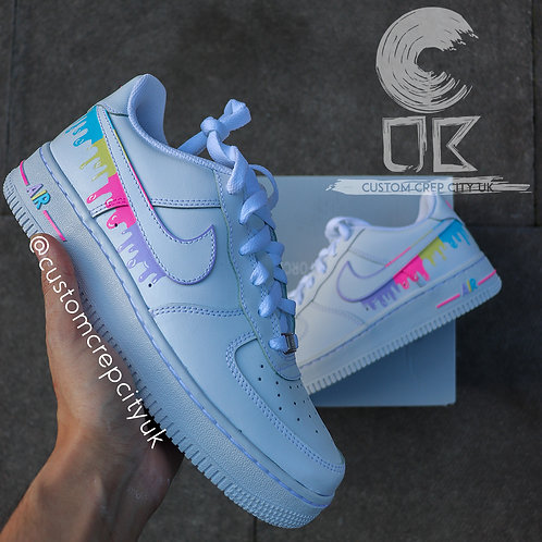 Custom Nike Air Force 1 Low (Multi-Colour Drip)