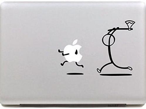 Custom Stickman Hunting Decal Sticker, Macbook Sticker, Hangman Hunting Apple