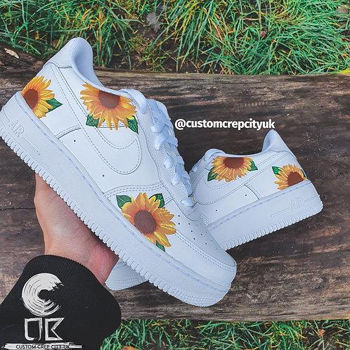 Custom Nike Air Force 1 Low (Sunflowers)