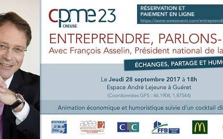 28.09.17 - Animation et représentation du Manager de l'année à Guéret : ça bouge avec la CPME 23