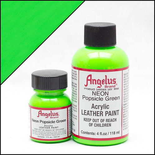 Angelus Neon Leather Paint - Popsicle Green