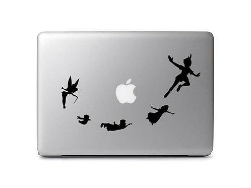 Custom Peter Pan Sticker, Macbook Sticker, Personalized Stencil