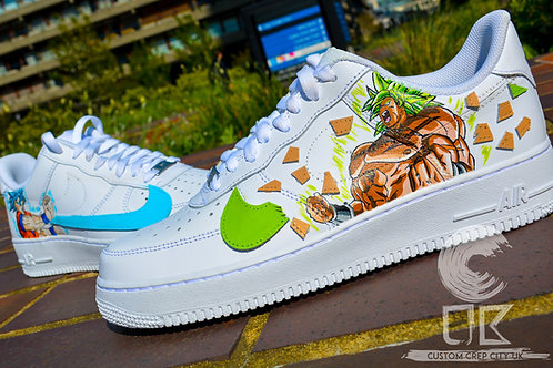 Custom Nike Air Force 1 Low (DBZ Broly x Goku)