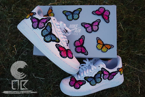 Custom Nike Air Force 1 Low (Multi-colour Butterfly)
