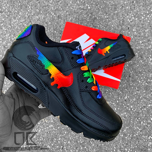 Custom Nike Air Max 90 (Rainbow Drip)
