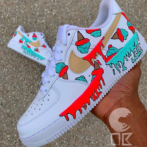 Custom Nike Air Force 1 Low (Gelato Dripping)