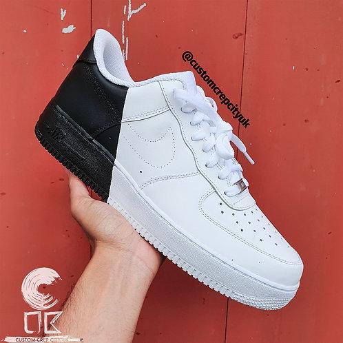 Custom Nike Air Force 1 Low (Black and White)
