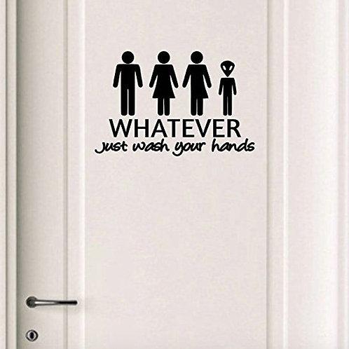 Funny Toilet Door Sign Sticker, Custom Decal, Door Sticker, Personalized Stencil