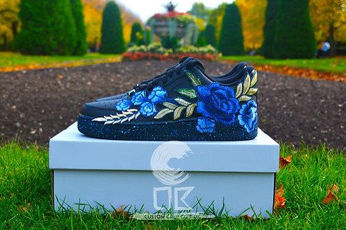 Custom Nike Air Force 1 Low (Blue Rose)