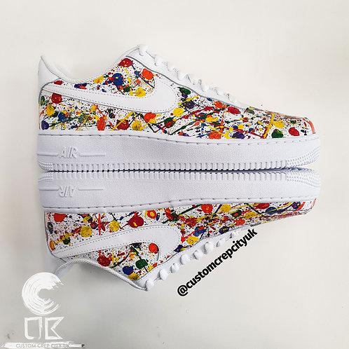 Custom Nike Air Force 1 Low (Multi-Colour Paint Splatters)