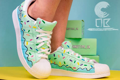 Custom Adidas Superstar (Doughnut Time)