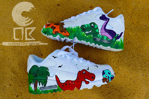 Custom Nike Air Max 90 (Dinosaurs)