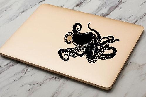 Custom Octopus Sticker, Macbook Sticker, Personalized Stencil, Car Bumper Sticke