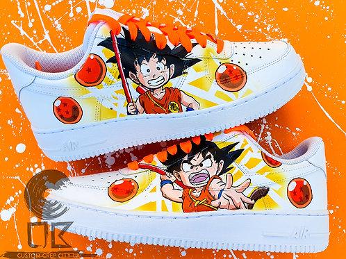 Custom Nike Air Force 1 Low (DB Kid Goku)