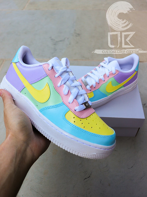 Custom Nike Air Force 1 Low (Love Hearts Pastels)