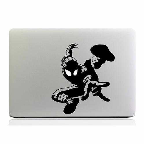 Custom Spiderman Sticker, Macbook Sticker, Personalized Stencil