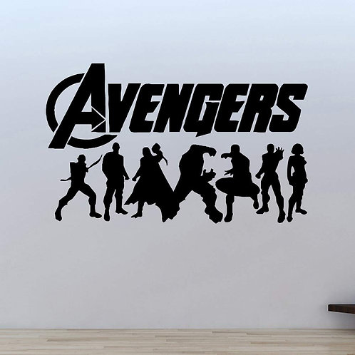 Custom Avengers Sticker, Macbook Sticker, Personalized Stencil