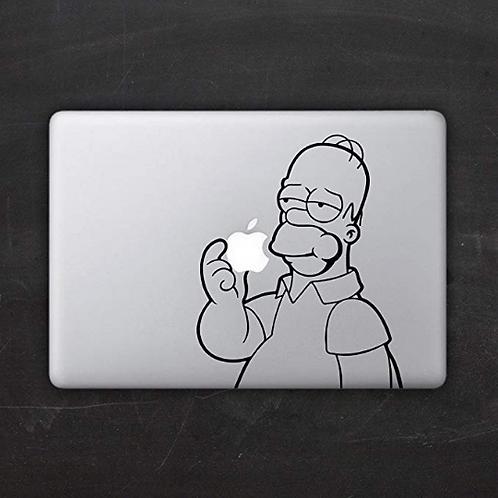 Custom Homer Simpson Decal Sticker, Macbook Sticker, Personalized Stencil, Vinyl