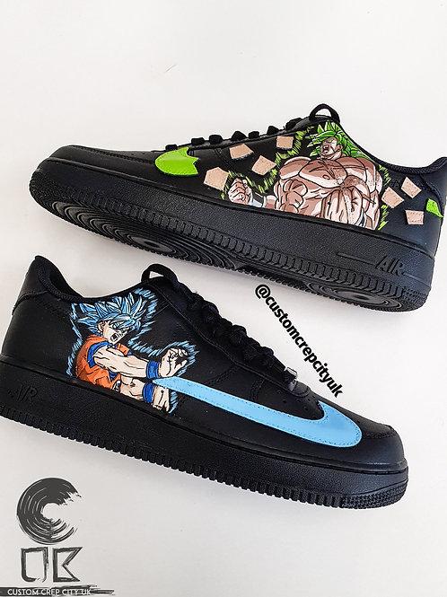 Custom Nike Air Force 1 Low (DBZ Broly x Goku)