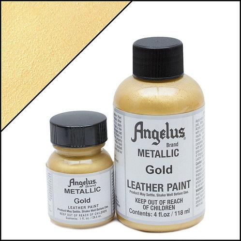 Angelus Metallic Leather Paint - Gold