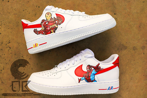 Custom Nike Air Force 1 Low (Spiderman x Ironman)