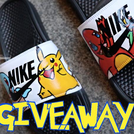 GIVEAWAY!!! Custom Pokémon Nike Sliders