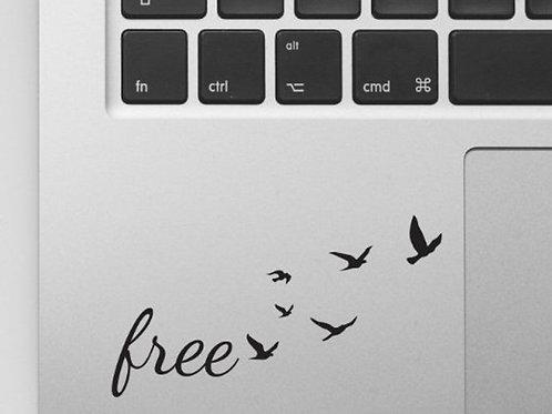 Custom Free Birds Sticker, Macbook Sticker, Personalized Stencil