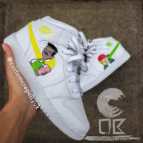 Custom Air Jordan 1 Mid (Recess)