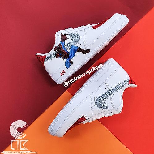 Custom Nike Air Force 1 Low (Spiderman Shooting Web)