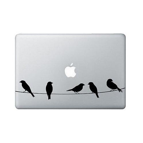 Custom Birds on Wire Sticker, Macbook Sticker, Personalized Stencil