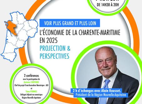 """Présentation de la rencontre """"L'économie de la Charente-Maritime"""" avec la participatio"""