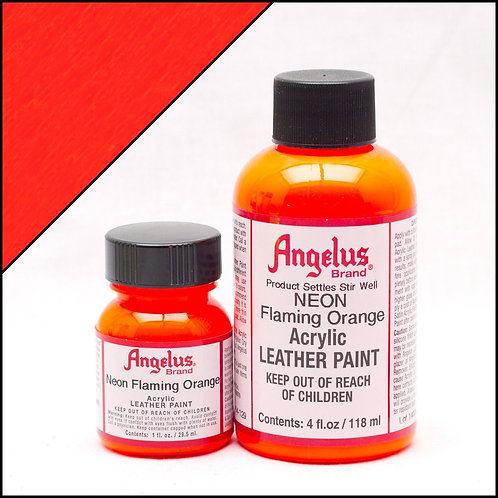 Angelus Neon Leather Paint - Flaming Orange