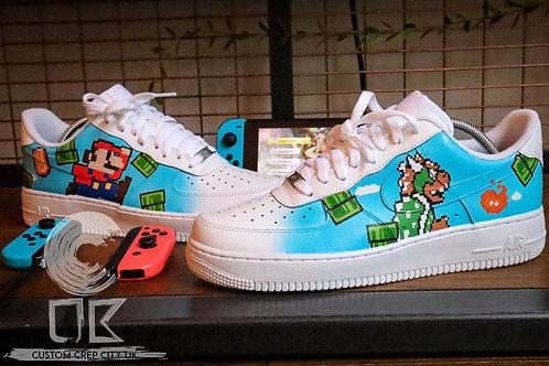 Custom Nike Air Force 1 Low (Mario Bros)
