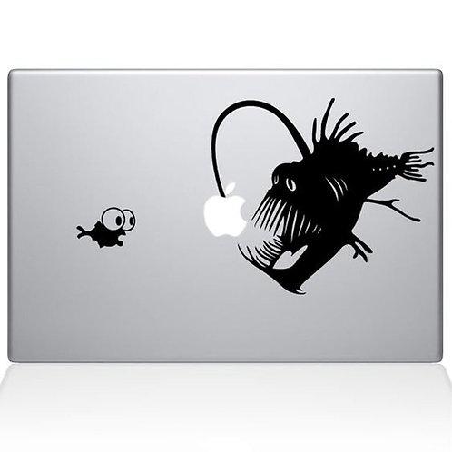 Custom Nemo Anglerfish Sticker, Macbook Sticker, Personalized Stencil