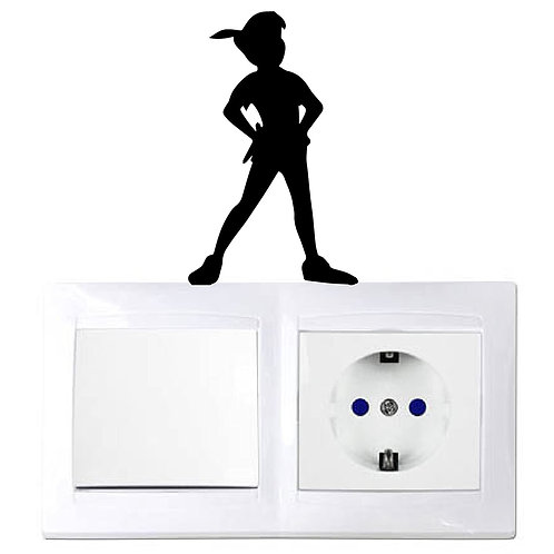 Peter Pan Custom Decal, Wall Switch Sticker, Wall Plug Decal